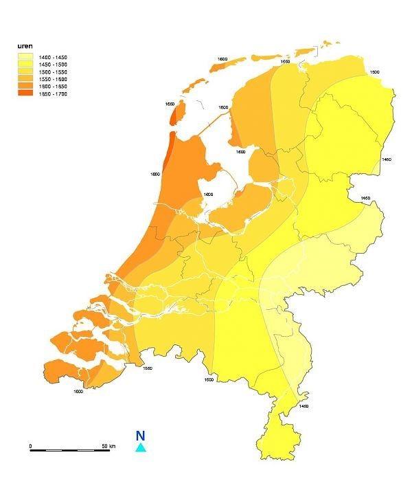 zonnekaart Nederland